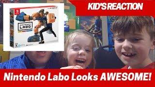 Kids Reaction to Nintendo Labo for Nintendo Switch