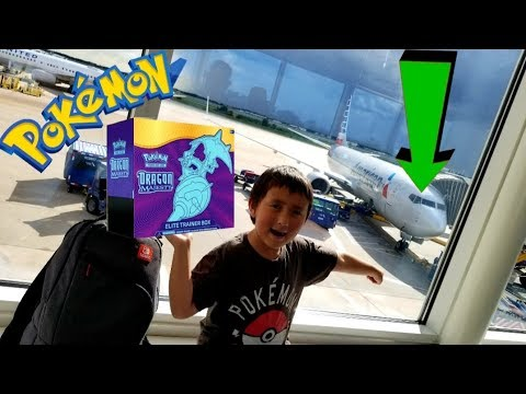 Baixar OPENING at 35,000ft! POKEMON CARDS ON AN AIRPLANE! NEW & EARLY DRAGON MAJESTY ELITE TRAINER BOX!