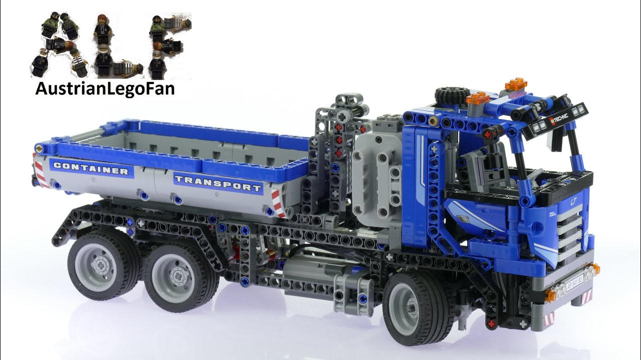 Lego Technic 8052 Container Truck Lego Speed Build Review Youtube