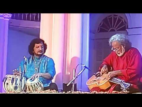 Vishwamohan Bhatt and Kumar Bose at Rabindranath Tagore's House