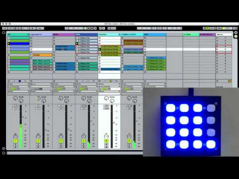 "Button Box w/ Ableton Live - Red Box Script ""how to"""