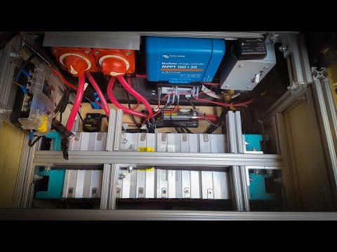 lithium battery install in a diy mercedes sprinter camper. Black Bedroom Furniture Sets. Home Design Ideas