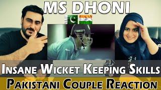 """MS DHONI"" Insane Wicket Keeping Skills | Pakistani Couple Reaction"