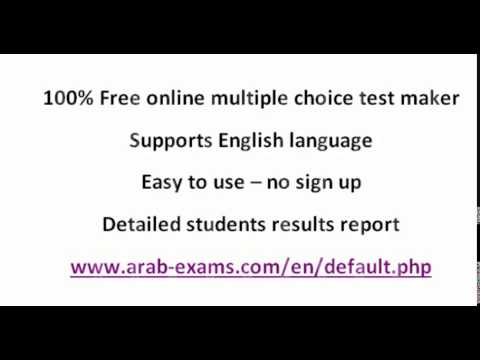 100 free online multiple choice test generator