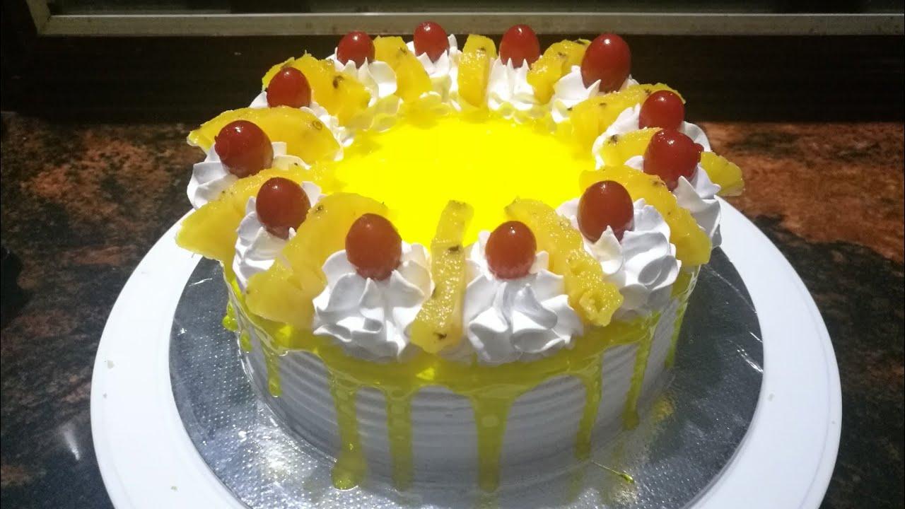 Pineapple Cake Recipe In Urdu Without Oven: ബേക്കറി സ്റ്റൈൽ Pineapple Cake ഓവനില്ലാതെ ഉണ്ടാക്കാം / How