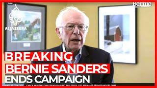 Bernie Sanders suspends campaign for US presidency