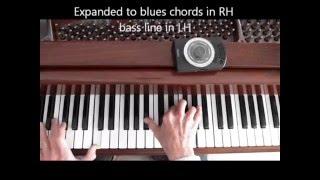 Jazz Piano, Funky Style Blues, w/ metronome