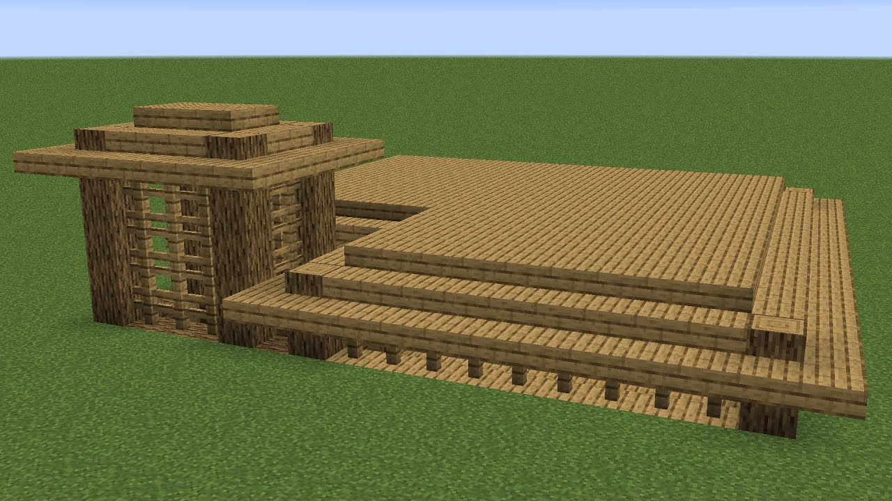 Minecraft - How to build a wooden underground house