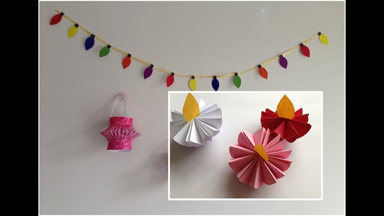 DIY Diwali Decorations with paper | how to make diwali decor |Last minute diwali decor ideas ...