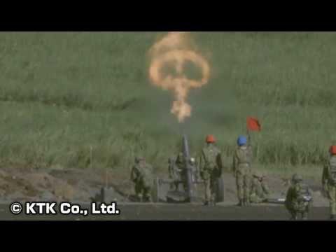 【自衛隊】榴弾砲・迫撃砲の射撃と弾着をスーパースロー撮影!(NEX-FS700J)