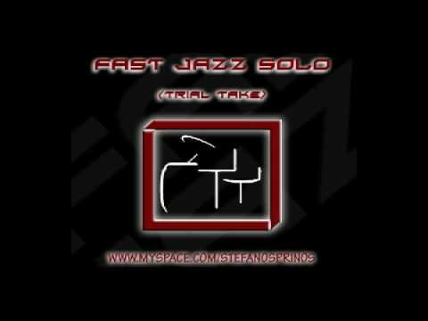 Stefanos Prinos - Fast Jazz Solo