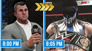 Finn Balor Drafted To Smackdown & Wins WWE Title in WWE 2K18!