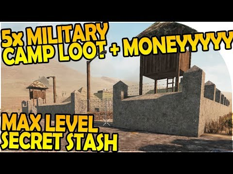 5x MILITARY CAMPS LOOT + MAX LEVEL SECRET STASH - 7 Days to Die Alpha 16 Gameplay Part 22 (Season 2)