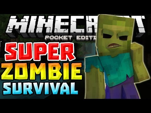 SUPER ZOMBIE SURVIVAL 0.12.0 – WAVE OF ZOMBIES!!! – Minecraft PE (Pocket Edition)
