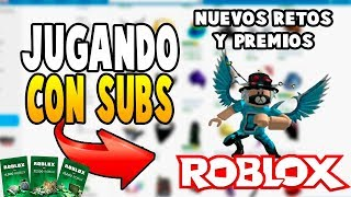 PLAYING ROBLOX WITH NEW SUBS AND AWARDS IN ROBUX [ROBLOX]