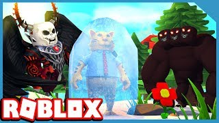 CAN WE ESCAPE THE HALLOWEEN MONSTERS?! - ROBLOX FREEZE TAG