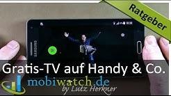 Ratgeber-Video: Gratis fernsehen auf Handy, Tablet & Co. – deutsch