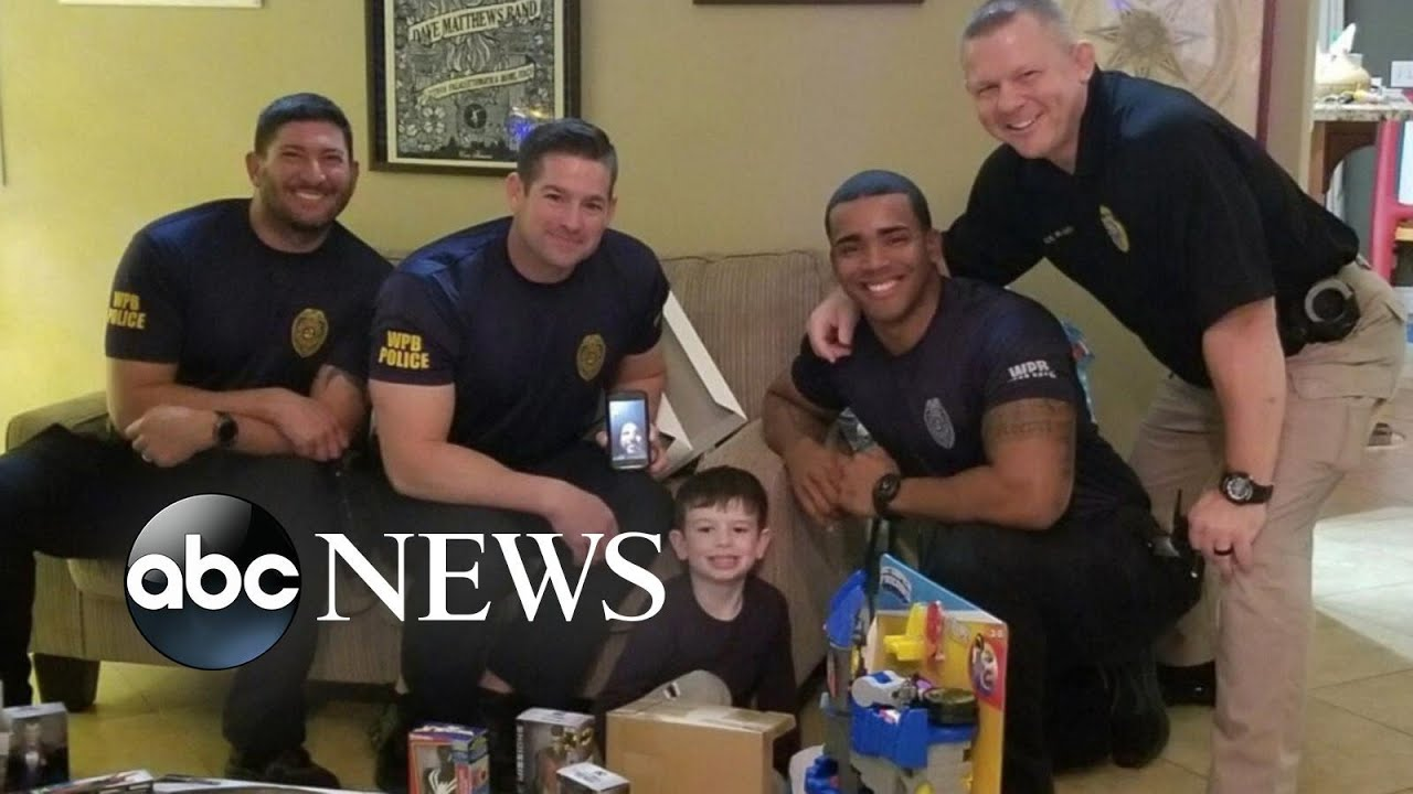 ABC News:1st day of kindergarten made less scary by the men and women in blue