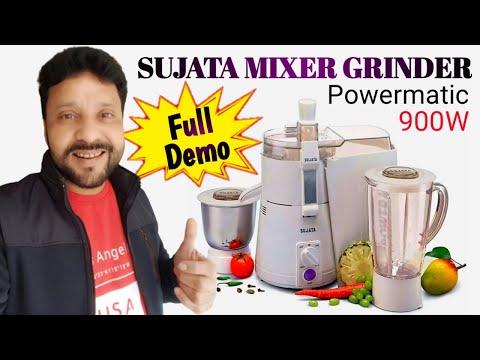 SUJATA POWERMATIC PLUS 900 WATT JUICER MIXER GRINDER | UNBOXING | REVIEW | HINDI | 2018 | INDIA