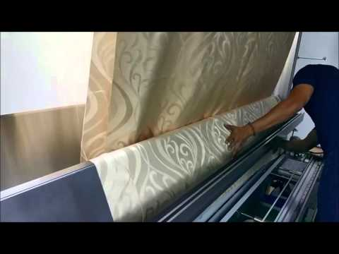 Golden Leaf Curtain Fabric Cut down Machine