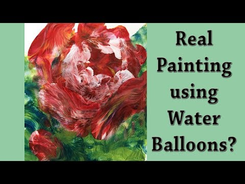 Abstract Red Rose Fluid Acrylic Painting Technique