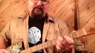How to play Big Leg Woman on 3 string cigar box guitar