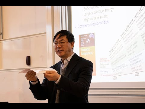 Guest Lecture With Professor Zhong Lin Wang From Georgia Tech