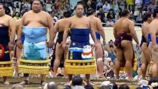 2014年8月16日(土)、札幌巡業に行って来ました! 西幕内土俵入りの模...
