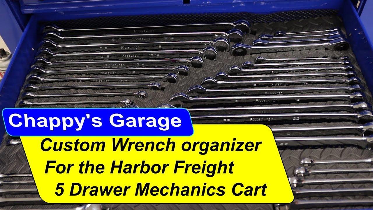 Custom Wrench Organizer For Harbor Freight Mechanics Cart