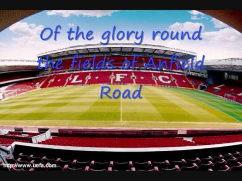 The fields of Anfield Road with lyrics