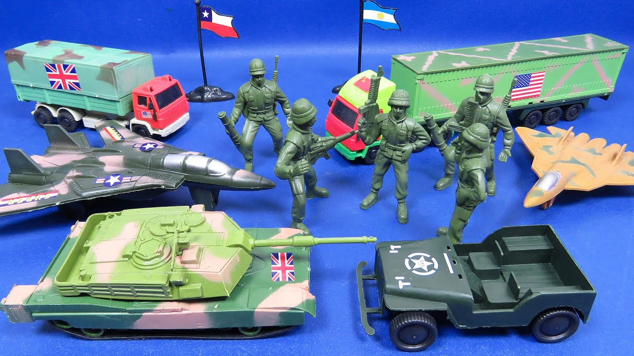 Bolsa de Soldados y Artillería Militar Colección; Tanque, Camiones, Aviones de Combate | REVIEW