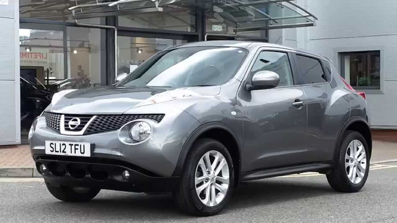 2012 12 plate nissan juke 1 6 acenta 5dr inc bluetooth premuim pack and sat nav in grey youtube. Black Bedroom Furniture Sets. Home Design Ideas