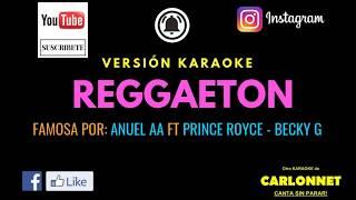 Reggaeton - J. Balvin (Karaoke)