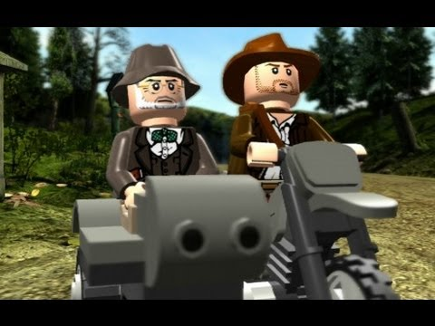 LEGO Indiana Jones: The Original Adventures Walkthrough P.8 Motorcycle Escape & Trouble in the Sky