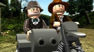 LEGO Indiana Jones: The Original Adventures Walkthrough P.8 - Motorcycle Escape & Trouble in the Sky