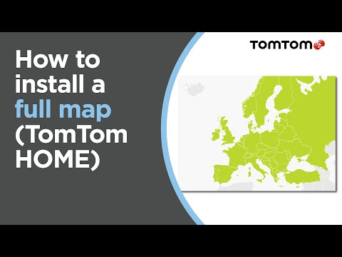 How to install a full map using TomTom HOME - YouTube