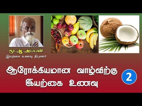 ஆரோக்கியமான வாழ்விற்கு இயற்கை உணவு | Iyarkai Unavu, Mu.Aa.Appan - Part-2