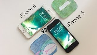 глобальное сравнение iphone 5 против iphone 6 на ios 10 iphone 5 vs iphone 6