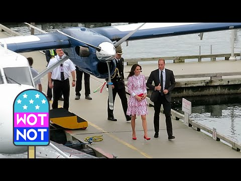 William & Kate Arrive on a Seaplane! ROYAL TOUR OF CANADA