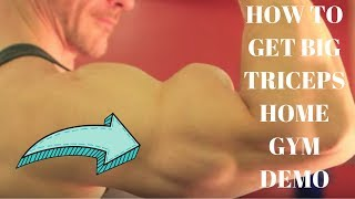 How to Get Big Arms Best Triceps Workout Home Gym
