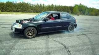 Civic RWD SR20DET part 1 Test Run ( Drift )