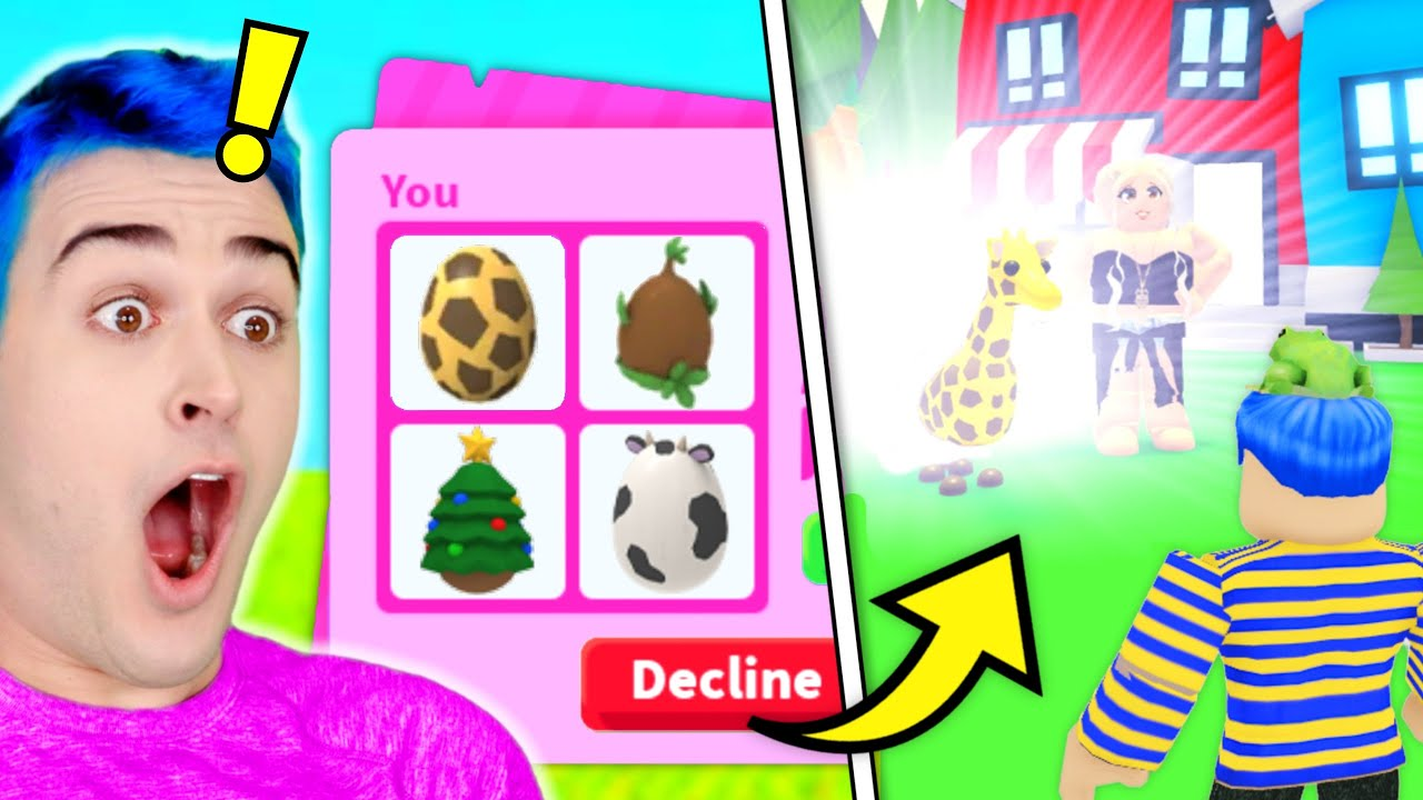 I Traded The RAREST EGGS To *STRANGERS* And They *HATCHED THEM* IN FRONT OF ME !! Adopt Me Roblox