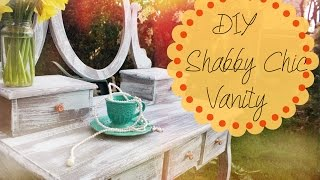 Diy // Shabby Chic Vanity | Thevintageselection