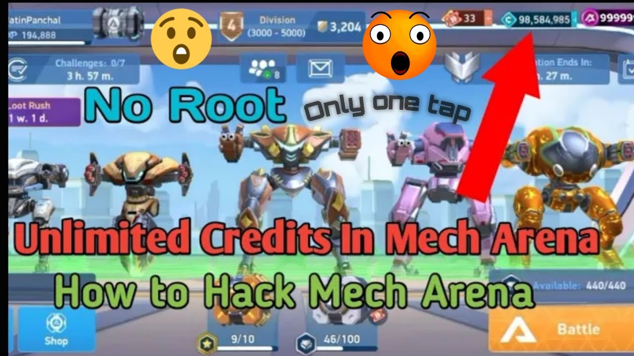 how to download mod apk unlimited credits and A-Coins Mech Arena:robot showdown fuly hacked easy