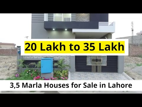 12 Houses for Sale in Lahore ( 20,00,000 to 35,00,000)