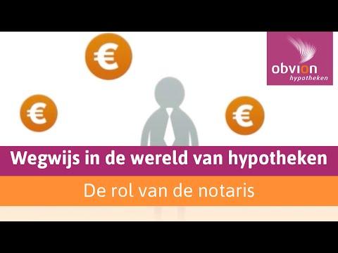 rol notaris bij het afsluiten van een hypotheek