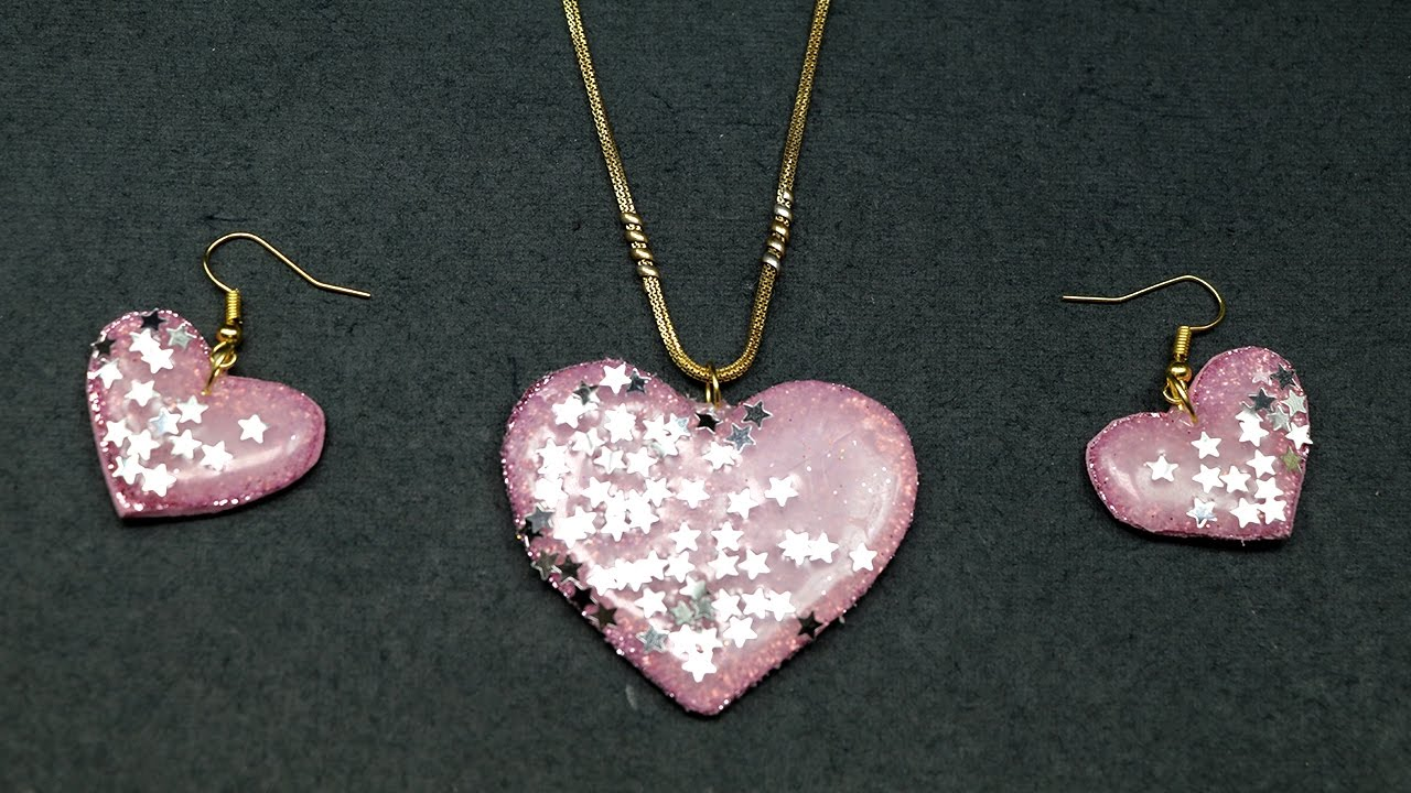 Valentine Crafts Diy Necklace With Earrings Valentine Gift Idea