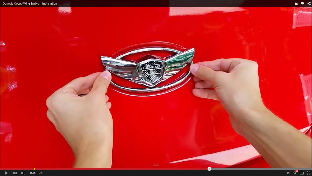 Genesis Coupe Wing Emblem Installation Youtube