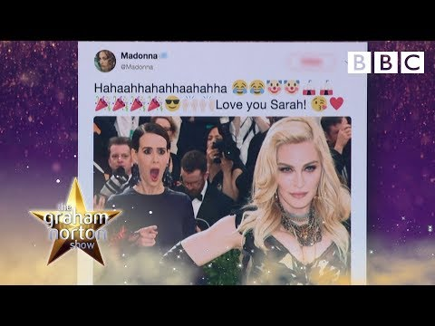 The awkward time Sarah Paulson ended up in Madonna's tweet – BBC