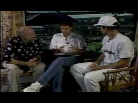 1990 John McEnroe interview with Jimmy Connors and Bud Collins at Wimbledon